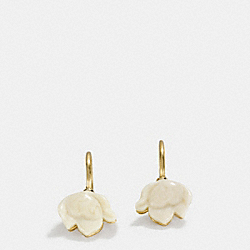 RESIN FLOWER WIRE EARRINGS - GOLD - COACH F54511