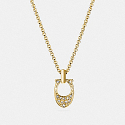 PAVE SIGNATURE NECKLACE - GOLD - COACH F54517