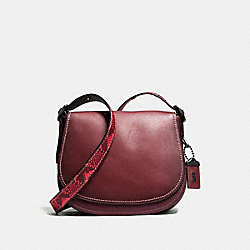 SADDLE 23 WITH COLORBLOCK PYTHON DETAIL - BORDEAUX/BLACK COPPER - COACH F54547