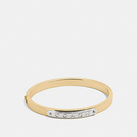 COACH HINGED BANGLE - GOLD - f54565