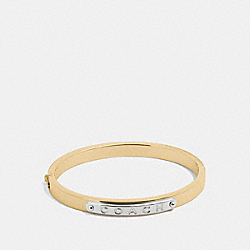 COACH HINGED BANGLE - GOLD - F54565