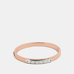 COACH HINGED BANGLE - ROSEGOLD - F54565