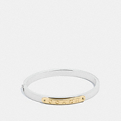 COACH HINGED BANGLE - SILVER - F54565