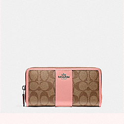ACCORDION ZIP WALLET - SILVER/KHAKI BLUSH 2 - COACH F54630