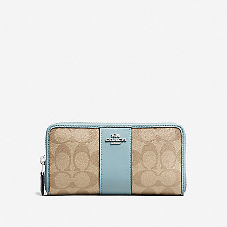 COACH ACCORDION ZIP WALLET IN SIGNATURE CANVAS - SVNKA - f54630