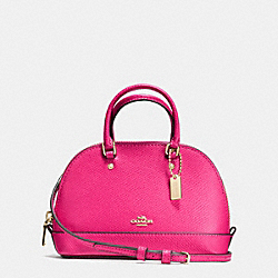 MICRO MINI SIERRA SATCHEL IN CROSSGRAIN LEATHER - f54661 - IMITATION GOLD/PINK RUBY