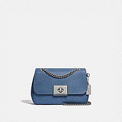 CASSIDY CROSSBODY - DENIM/SILVER - COACH F54671