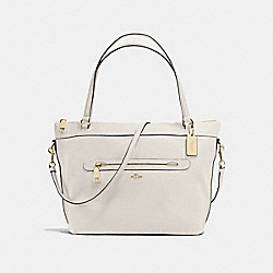 TYLER TOTE IN PEBBLE LEATHER - f54687 - IMITATION GOLD/CHALK