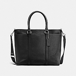 PERRY BUSINESS TOTE IN SMOOTH LEATHER - f54758 - BLACK