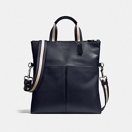 COACH CHARLES FOLDOVER TOTE IN SMOOTH LEATHER - MIDNIGHT - f54759