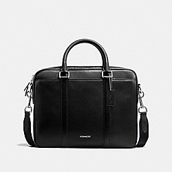 COACH PERRY COMPACT BRIEF IN CROSSGRAIN LEATHER - BLACK - F54764
