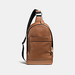 COACH CHARLES PACK IN SMOOTH LEATHER - DARK SADDLE - F54770