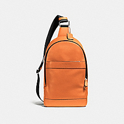 COACH CHARLES PACK IN SMOOTH LEATHER - ORANGE - F54770