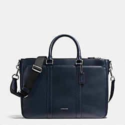 PERRY METROPOLITAN TOTE IN CROSSGRAIN LEATHER - f54775 - MIDNIGHT