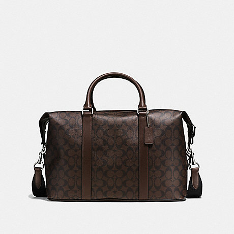 COACH VOYAGER BAG IN SIGNATURE - MAHOGANY/BROWN - f54776