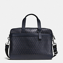 HAMILTON BAG IN PRINTED LEATHER - f54779 - DIAMOND FOULARD
