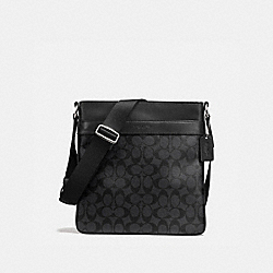 CHARLES CROSSBODY IN SIGNATURE - f54781 - CHARCOAL/BLACK