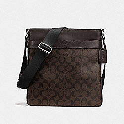 CHARLES CROSSBODY IN SIGNATURE - f54781 - MAHOGANY/BROWN