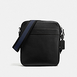 CHARLES FLIGHT BAG IN SMOOTH LEATHER - f54782 - BLACK