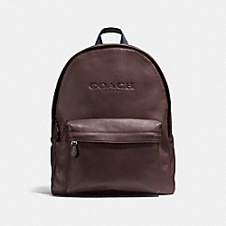 COACH CHARLES BACKPACK IN SPORT CALF LEATHER - MAHOGANY - F54786