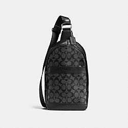 COACH CHARLES PACK IN SIGNATURE CANVAS - CHARCOAL/BLACK - F54787