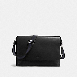 CHARLES MESSENGER IN SMOOTH LEATHER - f54792 - BLACK