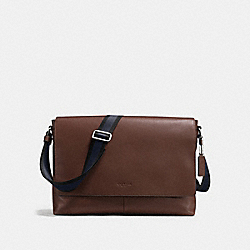 CHARLES MESSENGER IN SMOOTH LEATHER - f54792 - MAHOGANY