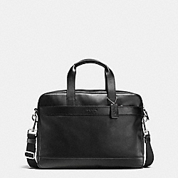 COACH HAMILTON BAG IN SMOOTH LEATHER - BLACK - F54801
