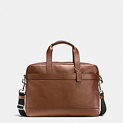 COACH HAMILTON BAG IN SMOOTH LEATHER - DARK SADDLE - F54801