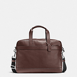 COACH HAMILTON BAG IN SMOOTH LEATHER - MAHOGANY - F54801