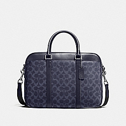 COACH PERRY SLIM BRIEF IN SIGNATURE - MIDNIGHT - F54803