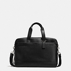 HAMILTON COMMUTER BAG IN LEATHER - BLACK - COACH F54804