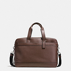 HAMILTON COMMUTER BAG IN LEATHER - f54804 - MAHOGANY