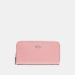 ACCORDION ZIP WALLET IN SIGNATURE LEATHER - PETAL/SILVER - COACH F54805