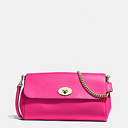 RUBY CROSSBODY IN CROSSGRAIN LEATHER - f54849 - IMITATION GOLD/PINK RUBY