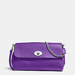 RUBY CROSSBODY IN CROSSGRAIN LEATHER - f54849 - SILVER/PURPLE
