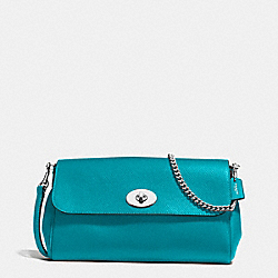 RUBY CROSSBODY IN CROSSGRAIN LEATHER - f54849 - SILVER/TURQUOISE