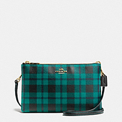 LYLA CROSSBODY IN RILEY PLAID COATED CANVAS - f54863 - IMITATION GOLD/ATLANTIC MULTI