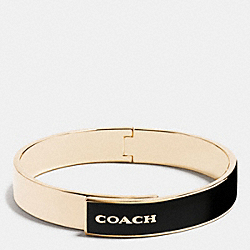 COACH COACH CUFF BANGLE - GOLD/BLACK - F54892