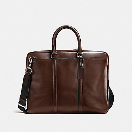 COACH METROPOLITAN SLIM BRIEF - MAHOGANY/BLACK ANTIQUE NICKEL - F54908
