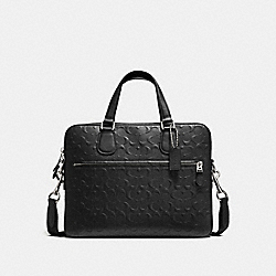 HUDSON 5 BAG IN SIGNATURE LEATHER - BLACK/SILVER - COACH F54932