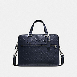 HUDSON 5 BAG IN SIGNATURE LEATHER - MIDNIGHT/SILVER - COACH F54932