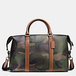 VOYAGER BAG IN PRINTED COATED CANVAS - GREEN CAMO - COACH F55035
