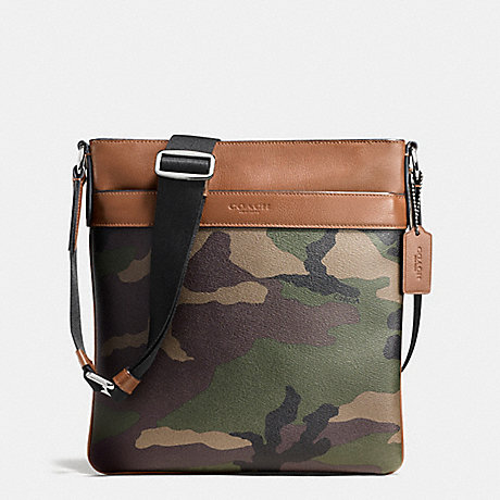COACH CHARLES CROSSBODY IN PRINTED COATED CANVAS - GREEN CAMO - f55070