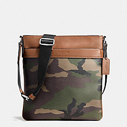 CHARLES CROSSBODY IN PRINTED COATED CANVAS - f55070 - GREEN CAMO