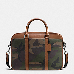 PERRY SLIM BRIEF IN PRINTED COATED CANVAS - GREEN CAMO - COACH F55136