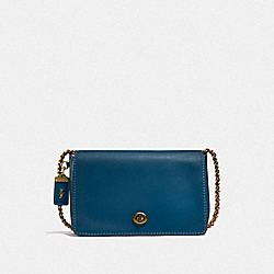 DINKY 24 - DARK DENIM/OLD BRASS - COACH F55148