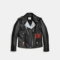 MICKEY MOTO JACKET - BLACK - COACH F55184