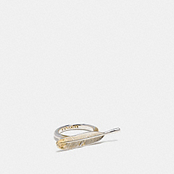 COACH GILDED FEATHER RING - SILVER/GOLD - F55187