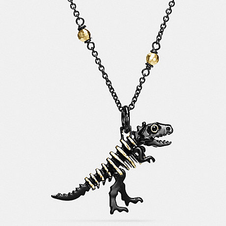 COACH f55216 REXY NECKLACE BLACK/GOLD